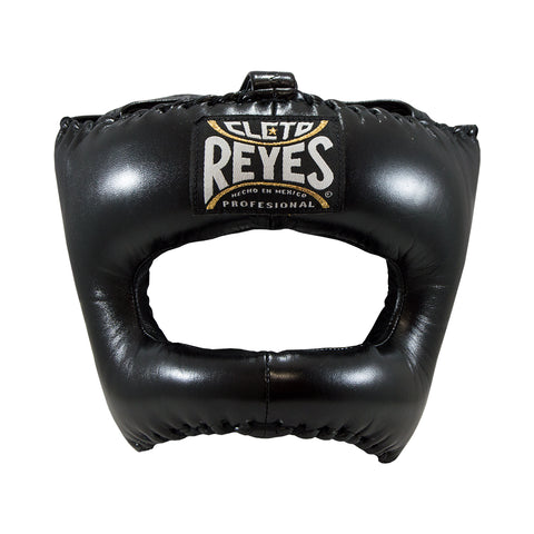 Cleto Reyes Headgear With Nylon Face Bar- Black - Bob's Fight Shop