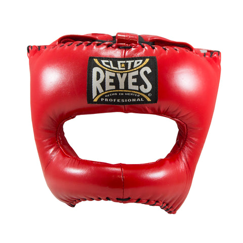 Cleto Reyes Headgear With Nylon Face Bar- Red - Bob's Fight Shop