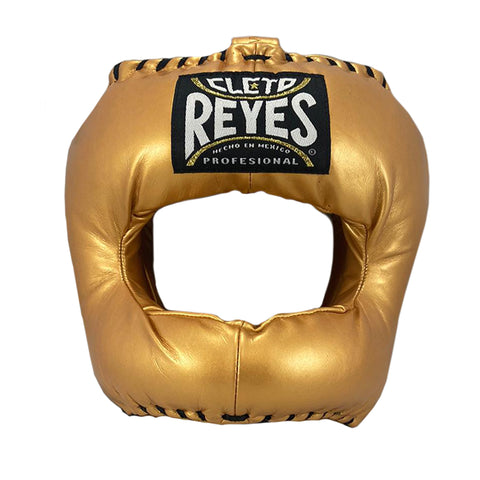 Cleto Reyes Headgear With Nylon Face Bar- Gold - Bob's Fight Shop