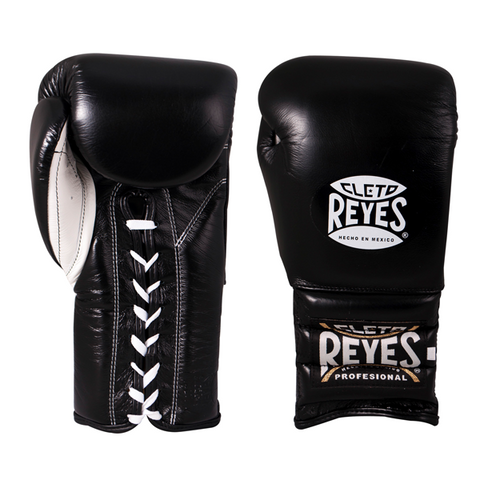 Cleto Reyes Lace-up Training Gloves Black - Bob's Fight Shop