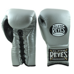 Cleto Reyes Lace-up Training Gloves Silver - Bob's Fight Shop