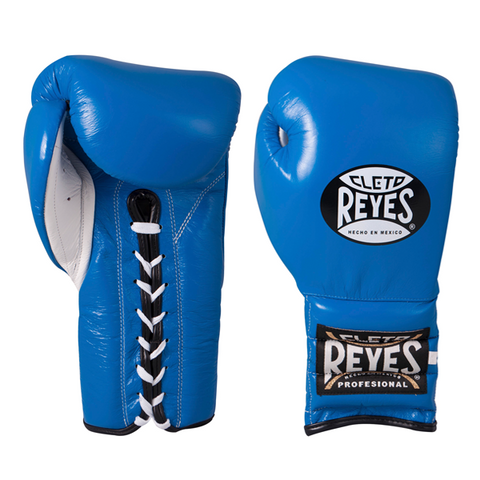 Cleto Reyes Lace-up Training Gloves Blue - Bob's Fight Shop