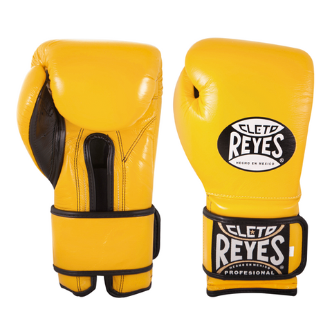 Cleto Reyes Velcro Training Gloves Yellow - Bob's Fight Shop