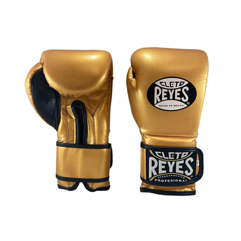 Cleto Reyes Velcro Training Gloves Gold - Bob's Fight Shop