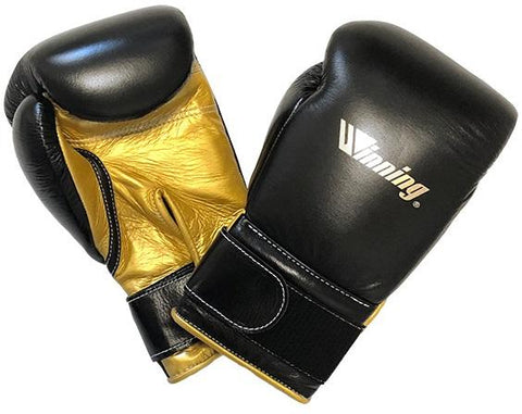 Winning Special Logo Custom Boxing Gloves Black/Gold - Bob's Fight Shop