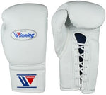 Winning Lace-up Gloves White - Bob's Fight Shop