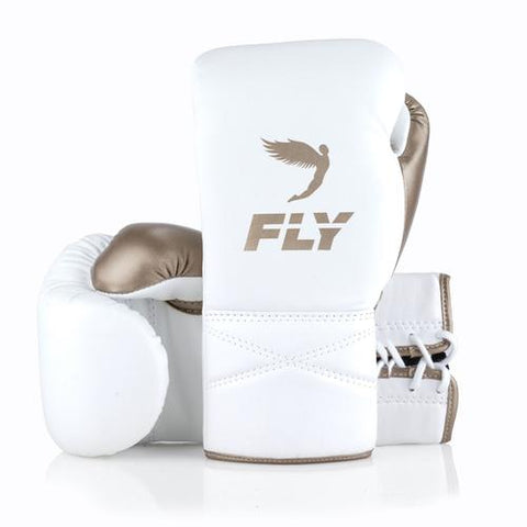 Fly Superlace White/Gold - Bob's Fight Shop