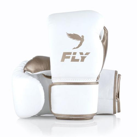 Fly Superloop White/Gold - Bob's Fight Shop
