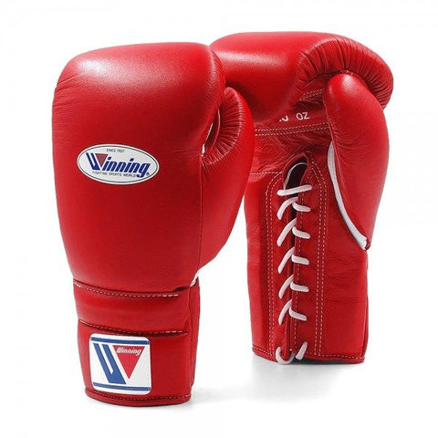 Winning Lace-up Gloves Red - Bob's Fight Shop