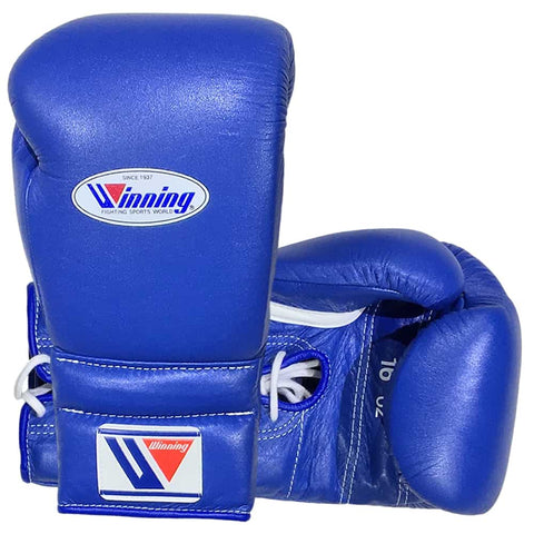 Winning Lace-up Gloves Blue - Bob's Fight Shop