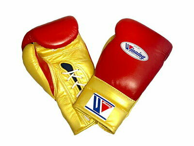 Winning Special Edition Boxing Gloves Red/Gold - Bob's Fight Shop