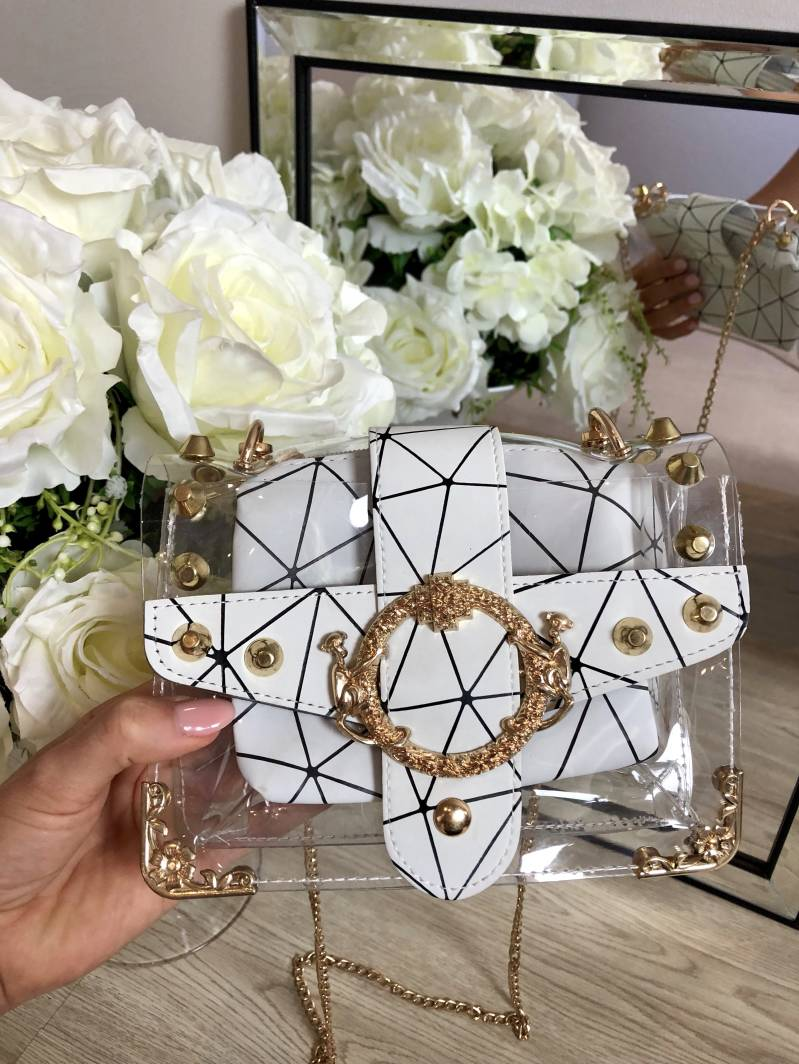 Geometric Printed Bag