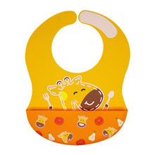 Load image into Gallery viewer, Wide Coverage Silicone Bib (6mo+)