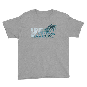 Boy's Surifnity Infinite Wave Palm Ocean - Heather Grey
