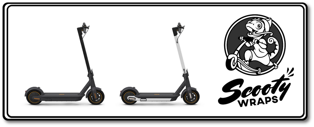 Scooty Wraps half electric scooter wrap for the Segway Max