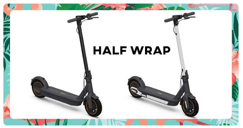 Half Wrap segway max g30 electric scooter scooty wraps