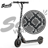 Snake wrapped e12 electric scooter