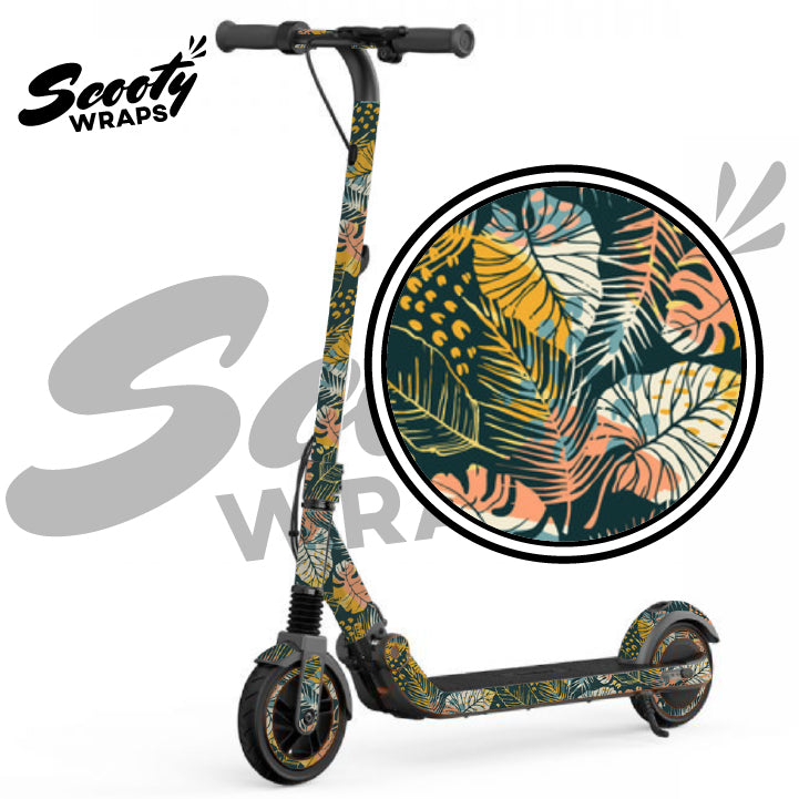 Floral wrapped e12 segway scooter