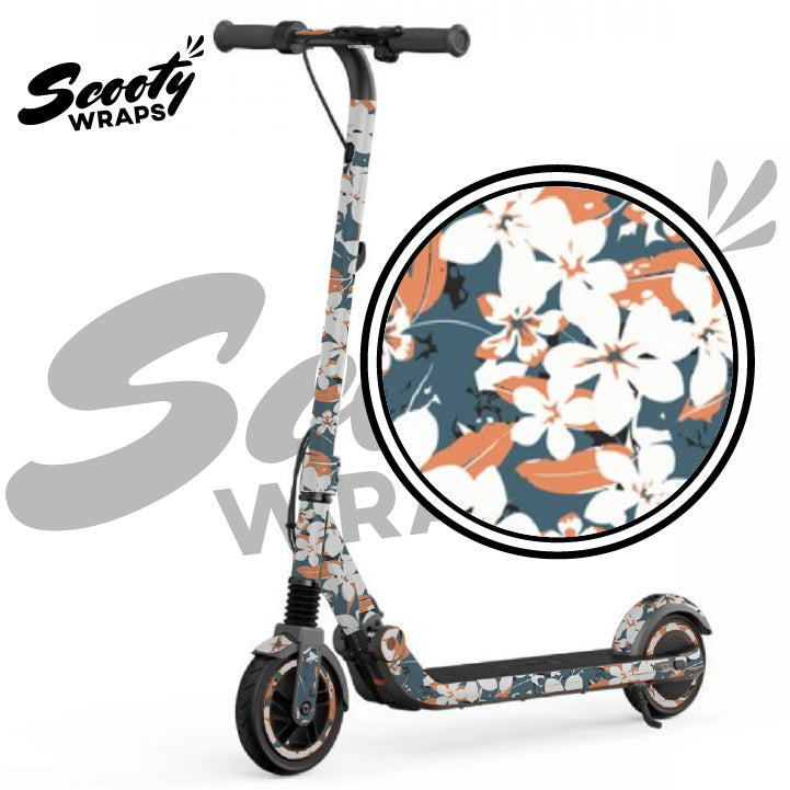 Orange Floral Segway Ninebot e12