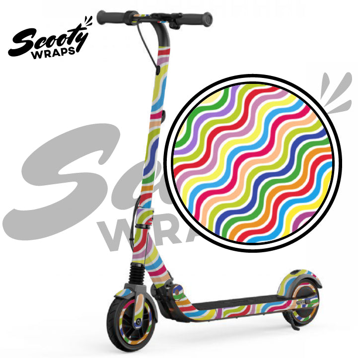 Rainbow lines segway e12 electric scooter