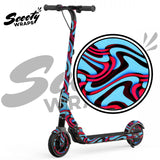 Twisted blue red ninebot e12 segway wrap