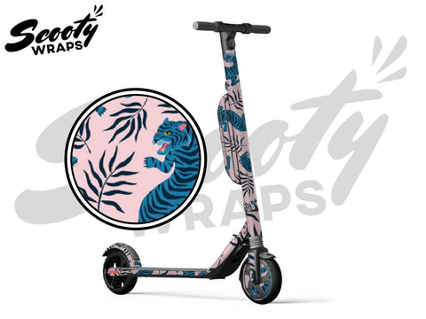 Segway Ninebot ES4 electric scooter wrap Blue Tiger