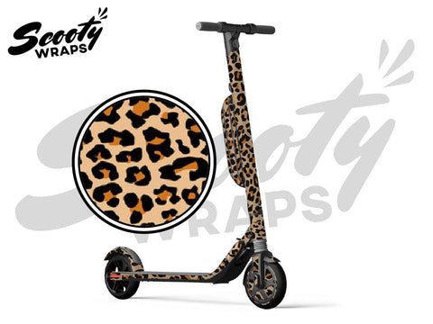 Segway Ninebot ES4 electric scooter wrap cheetah