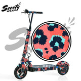 Apollo City wrap electric scooter pink leopard