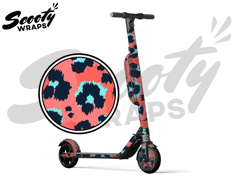 Segway Ninebot ES4 electric scooter wrap pink leopard