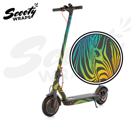 Electric Scooter Wrap  Xiaomi M365 Pro - Dark Rainbow Zebra