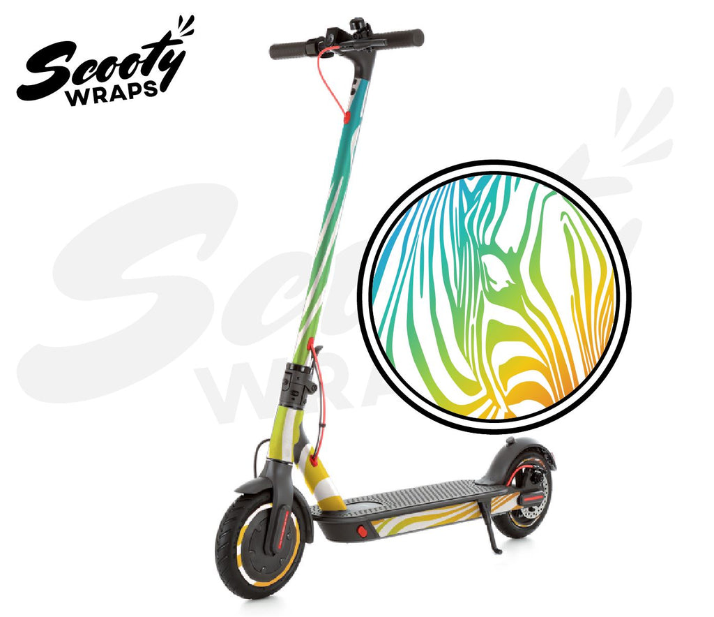 Electric Scooter Wrap  Xiaomi M365 Pro - Light Rainbow Zebra