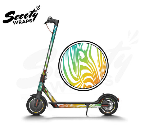 Electric Scooter Wrap  Xiaomi M365 - Light Rainbow Zebra
