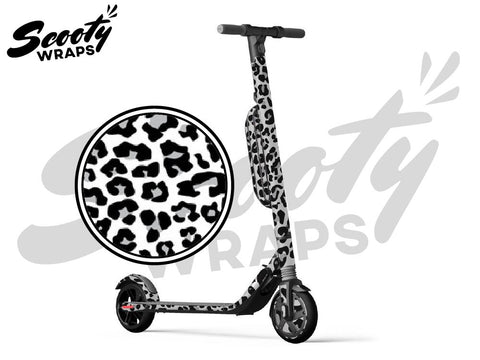 Segway Ninebot ES4 electric scooter wrap white cheetah