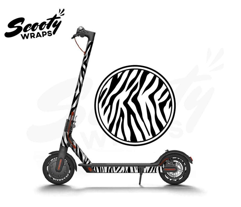 Electric Scooter Wrap  Xiaomi M365 - Zebra