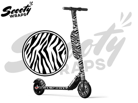 Segway Ninebot ES4 electric scooter wrap Zebra
