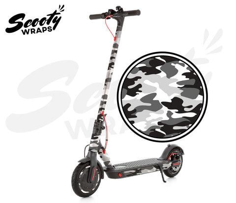 Electric Scooter Wrap  Xiaomi M365 Pro - Black / White Camo