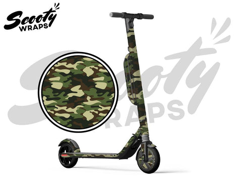 Segway Ninebot ES4 electric scooter wrap green camo