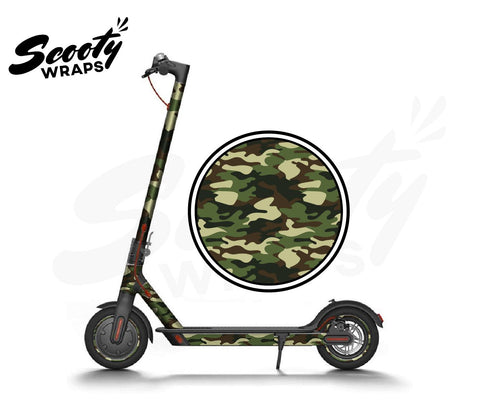 Electric Scooter Wrap  Xiaomi M365 - Green / Brown Camo
