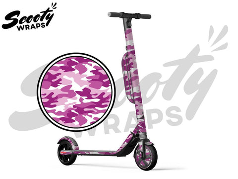 Segway Ninebot ES4 electric scooter wrap pink camo