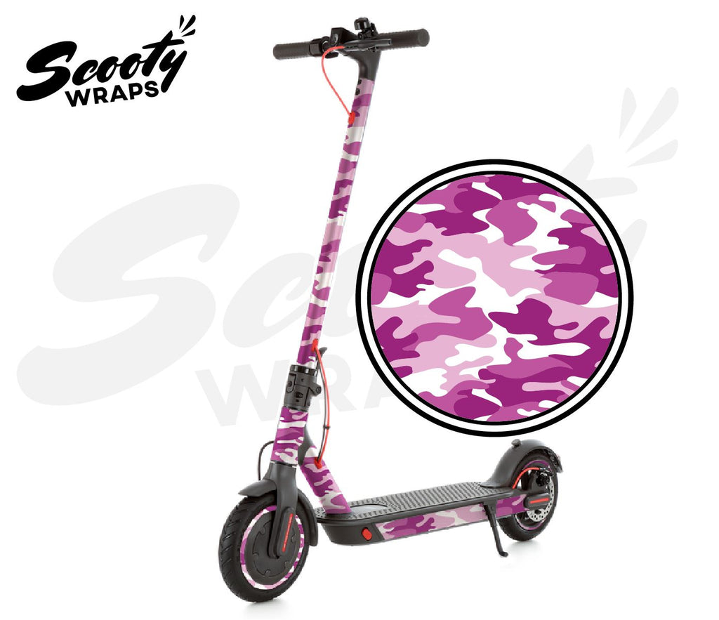Electric Scooter Wrap  Xiaomi M365 Pro - Pink / White Camo