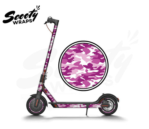 Electric Scooter Wrap  Xiaomi M365 - Pink / White Camo