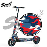 Apollo City electric scooter blue red camo