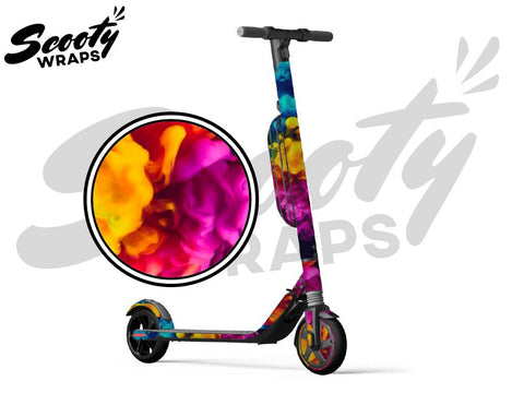 Segway Ninebot ES4 electric scooter wrap paint explosion