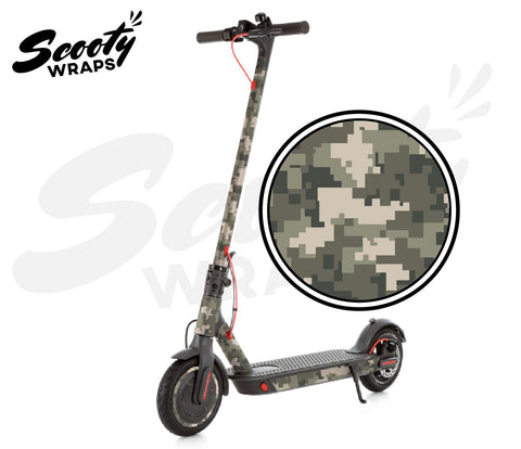 Electric Scooter Wrap  Xiaomi M365 Pro - Green Digital Camo