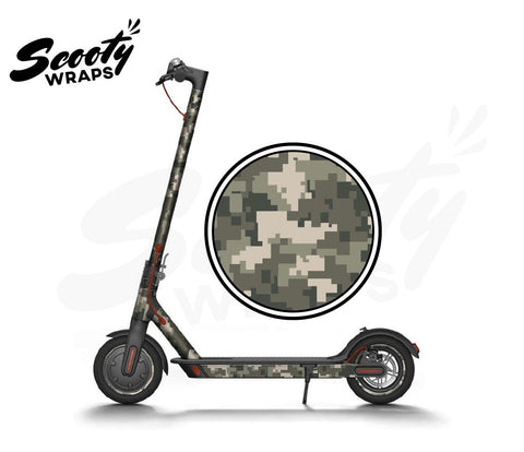 Electric Scooter Wrap  Xiaomi M365 - Green Digital Camo