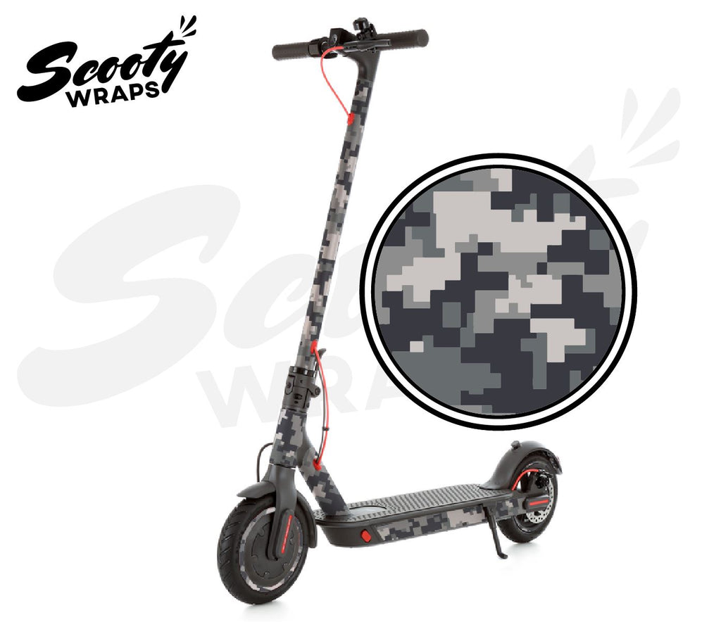 Electric Scooter Wrap  Xiaomi M365 Pro - Grey Digital Camo