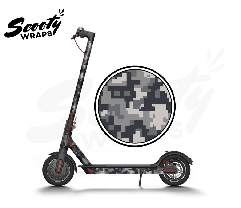 Electric Scooter Wrap  Xiaomi M365 - Grey Digital Camo