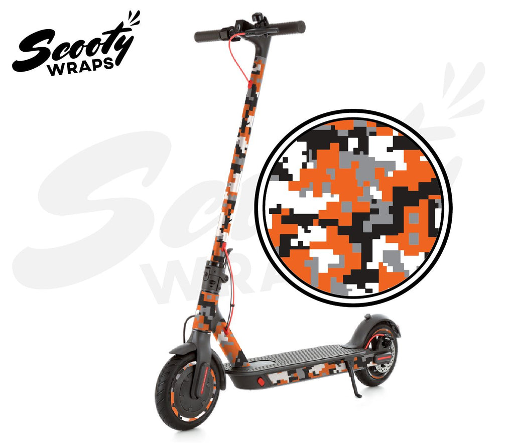 Electric Scooter Wrap  Xiaomi M365 Pro - Orange Digital Camo