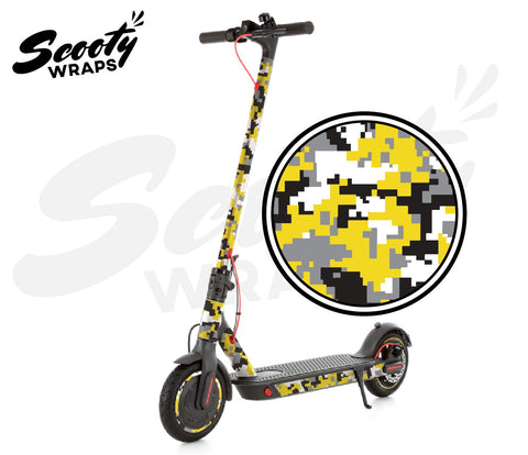 Electric Scooter Wrap  Xiaomi M365 Pro - Yellow Digital Camo