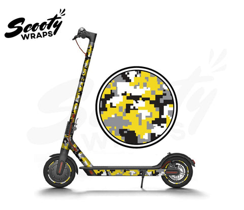Electric Scooter Wrap  Xiaomi M365 - Yellow Digital Camo